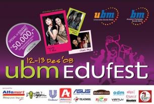 Universitas Bunda Mulia menyelenggarakan Edufest 2008 pada :