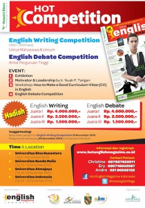 poster hot competition a2