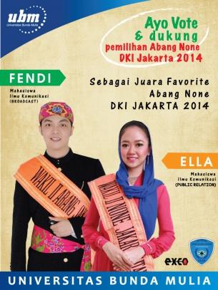 Fendi dan Ella untuk ABNON 2014