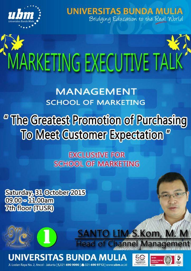 Marketing Excecutive Talk