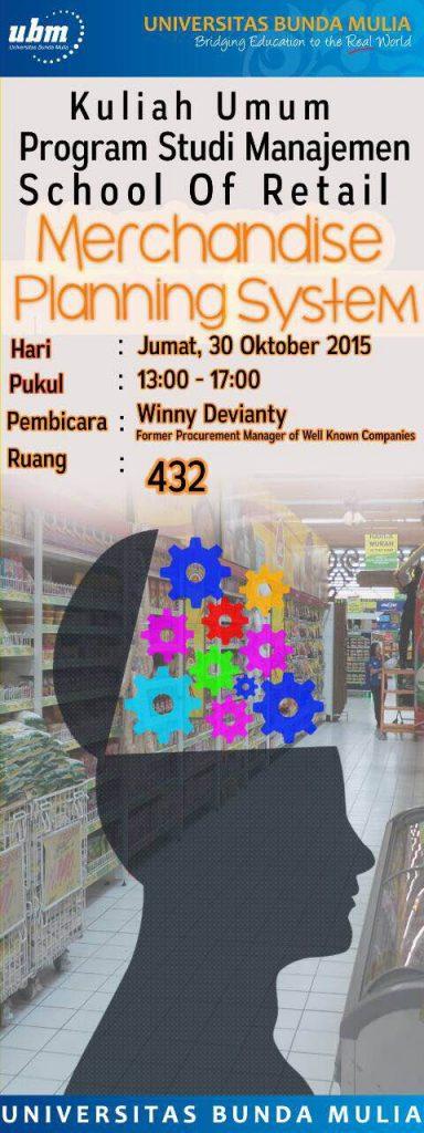 Merchandise Planning System
