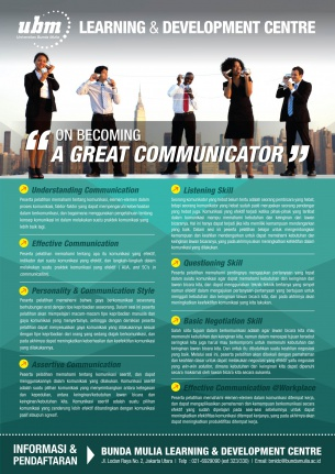 Profesional Workshop Series: On Becoming A Great Communicator