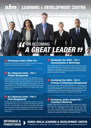 Profesional Workshop Series: On Becoming A Great Leader