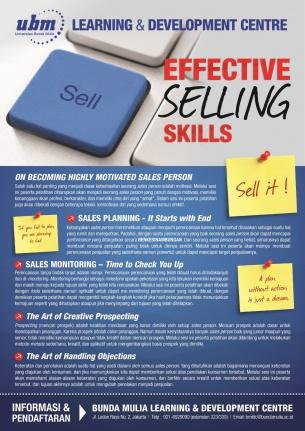 Profesional Workshop Series: Effective Selling Skills