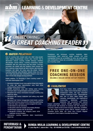 Profesional Workshop Series: On Becoming A Great Coaching Leader