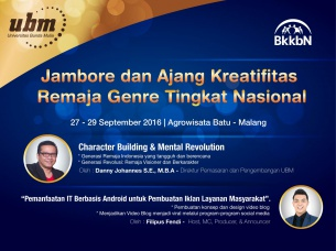 """UBM Support Kegiatan """"Jambore dan Ajang Kreatifitas Remaja Genre Tingkat Nasional"""" Bersama BKKBN"""