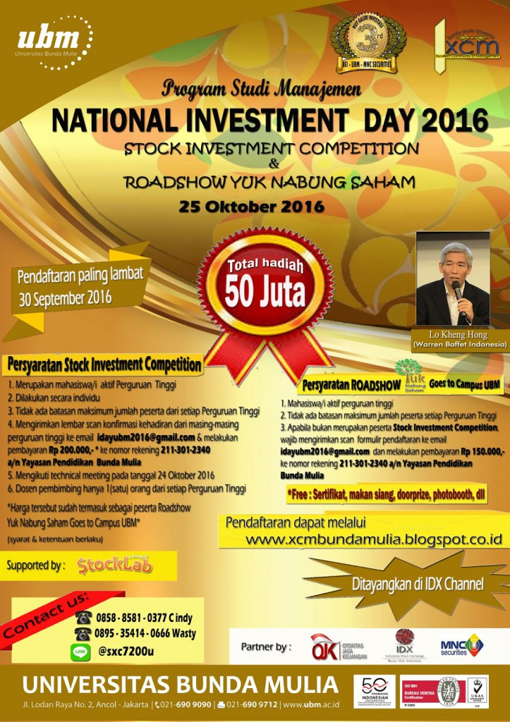 Poster National Investment Day 2016