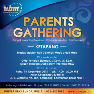 Parents Gathering UBM di Ketapang :  Ayo Maju Generasi Muda!