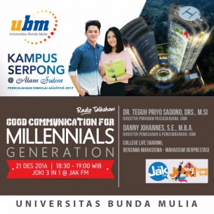 """""""Good Communication for Millennial Generation"""" With Jak FM Listeners"""