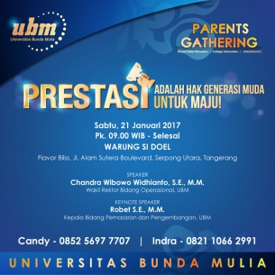 Parents Gathering UBM: Dukung Peran Orang Tua untuk Generasi Muda