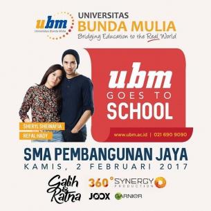 "Roadshow UBM Goes to School bersama Film ""Galih & Ratna"" di SMA Pembangunan Jaya"