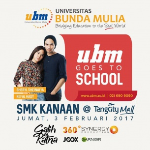 "UBM Goes to School bersama Film ""Galih & Ratna"" Ramaikan Pensi SMK Kriten Kanaan!"