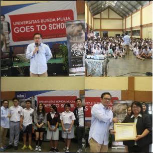 Roadshow UBM Goes to School bersama Galih & Ratna ke Thomas Aquino