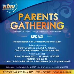 Parents Gathering UBM Kini Hadir di Bekasi