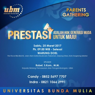 Yuk, Mampir ke UBM Parents Gathering Serpong!