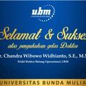 Selamat dan Sukses Kepada Bp. Chandra Wibowo Widhianto, Wakil Rektor Bidang Operasional Universitas Bunda Mulia