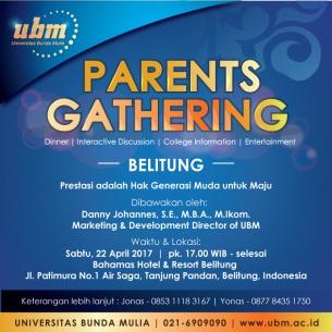 Parents Gathering Hadir di Ambon dan Belitung