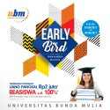 Program Beasiswa UBM Early Bird telah Dibuka !