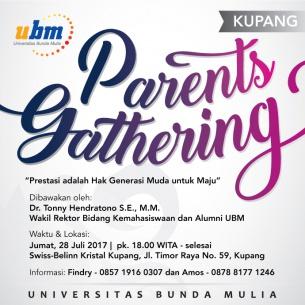 Hadiri Parents Gathering UBM di Kupang