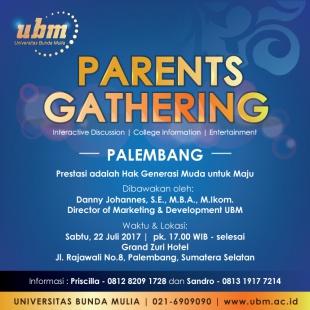 UBM akan Gelar Parents Gathering di Palembang!