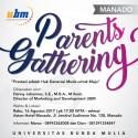 Parents Gathering UBM Hadir di Manado