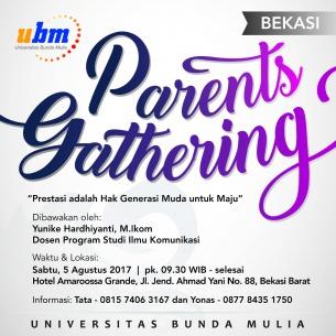 Parents Gathering UBM Hadir di Bekasi