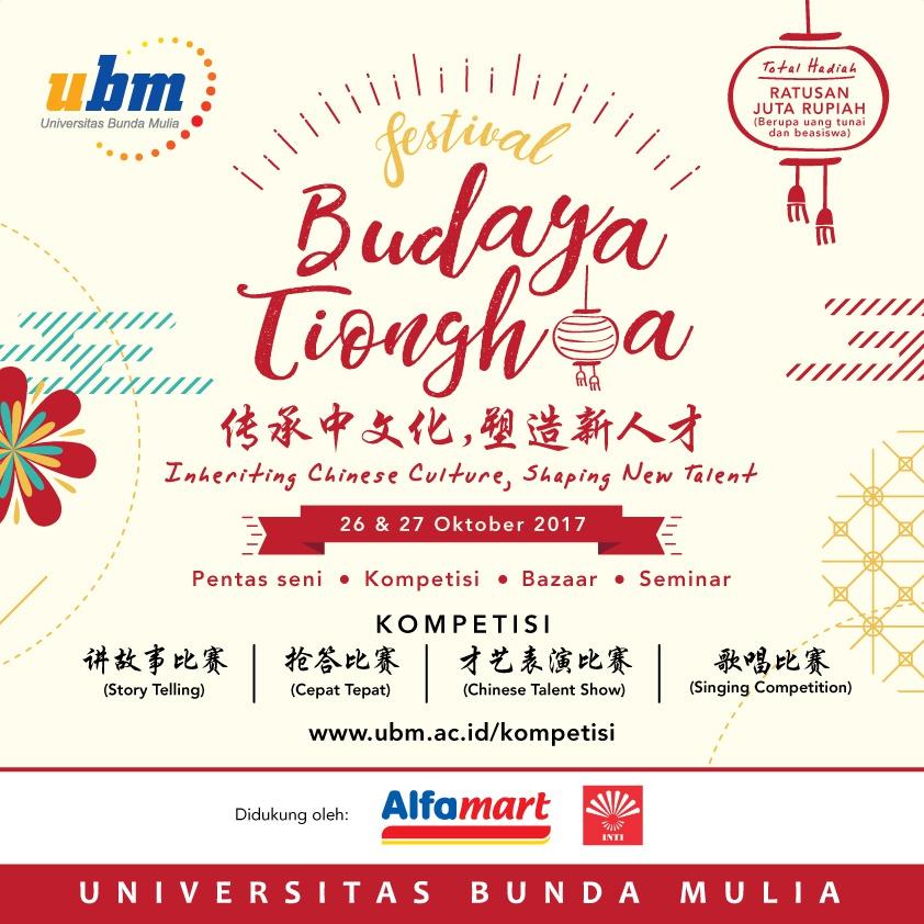 Nantikan Festival Budaya Tionghoa 1 hari lagi!