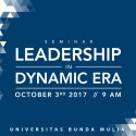 Seminar Leadership in Dynamic Era!