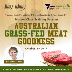 Master Class Training Session : Australian Grass-Fed Meat Goodness