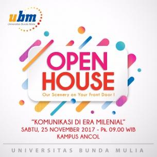 Open House UBM Kampus Ancol : Komunikasi Di Era Milenial