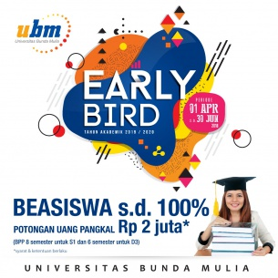 Program Beasiswa UBM Early Bird telah Dibuka!