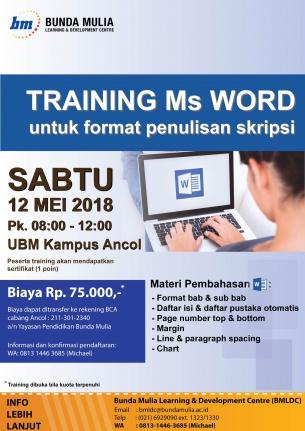 Pelatihan Ms Word