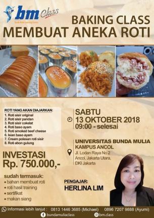 BAKING CLASS: MEMBUAT ANEKA ROTI