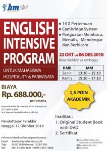 Poster English Intensive Program