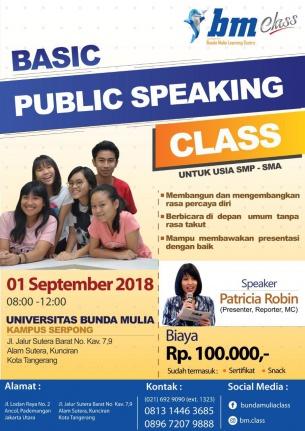 BASIC Public Speaking Class