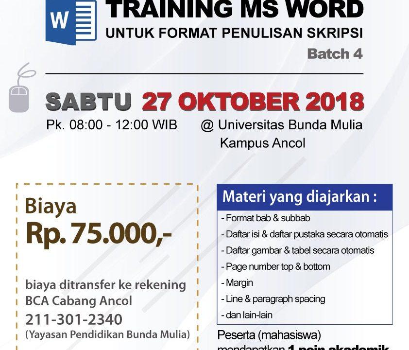 Poster Pelatihan Ms Word Batch 4
