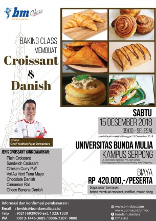 Baking Class Series: Membuat Croissant & Danish