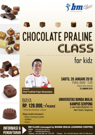 Baking Class Series: Chocolate Praline FOR KIDZ