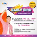 PROGRAM BEASISWA EARLY BIRD  TELAH DIBUKA !