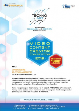 VIDEO CONTENT CREATOR COMPETITION 2019