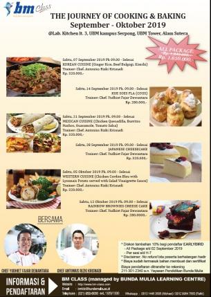 The Journey of Cooking & Baking (September – Oktober 2019)