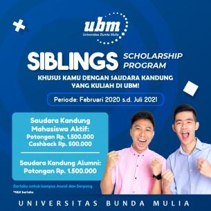 Beasiswa Sibling Universitas Bunda Mulia