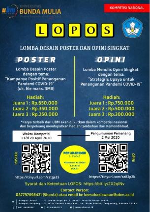 """Kompetisi Nasional LOPOS """"Lomba Desain Poster dan Opini Singkat"""" Kemendikbud"""